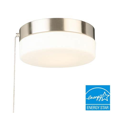 Hton Bay 8 In 60 Watt Equivalent Brushed Nickel Pull Ceiling Light
