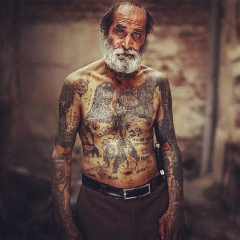 old person with tattoos tattoos