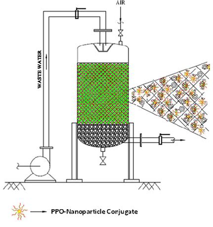 packed bed reactor packed bed reactor for wastewater treatment employing ppo