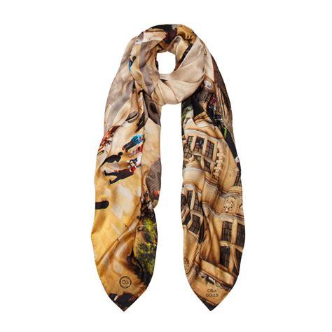oxford crossroad silk scarf by celia gould