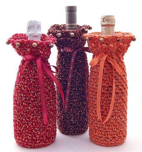 pattern for crochet bottle bag crochet wine cozy