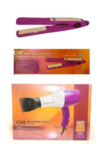 Combo Pack Of Hair Dryer Straightener And Curling Iron chi brilliance flat iron chi brilliance hair dryer purple combo set product special
