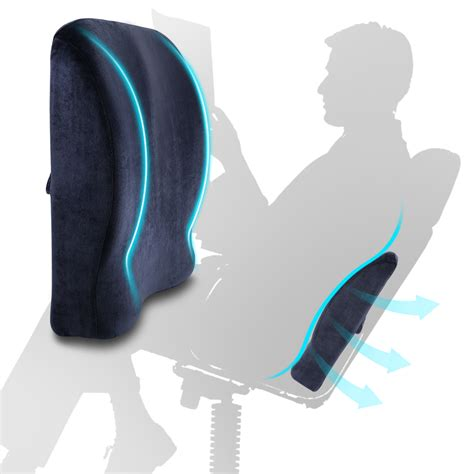 Cushion Supports by Lumbar Cushion Back Support Travel Pillow Memory Foam Car