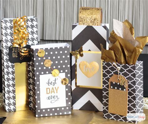 Gift Bags From Scrapbook Paper - diy scrapbook paper gift bags atta says