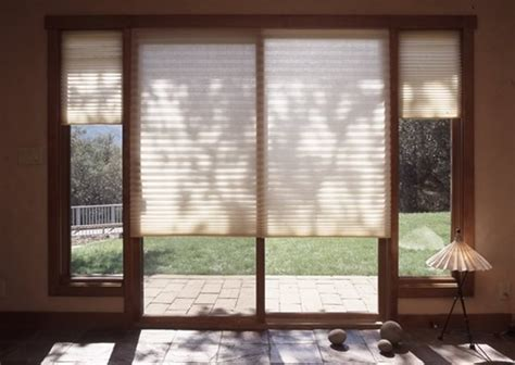 Sliding Glass Door Coverings Horizontal Cellular Blinds For Patio Doors Icamblog