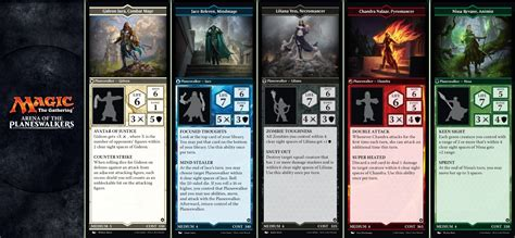 Arena Of The Planeswalkers Card Templates by Mtg Arena Of The Planeswalkers Board Releasing Early