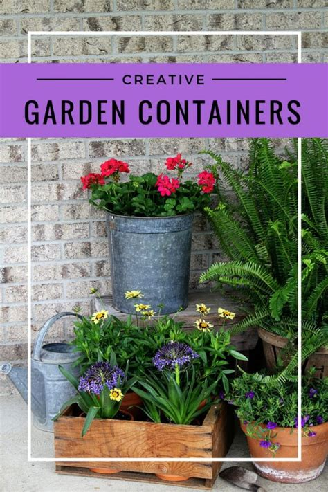 creative garden containers ditch the urns creative garden containers for your porch