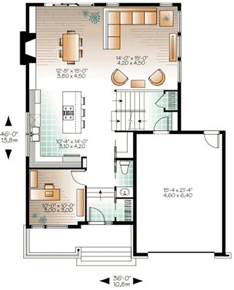 house plans floor master contemporary house plan with sunken foyer 22392dr 2nd floor master suite cad available