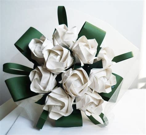 Bouquet Of Origami Roses - origami bouquet bouquet