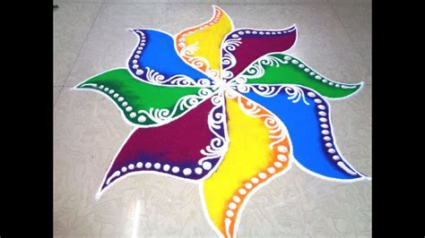 designs to color fancy colour rangoli design