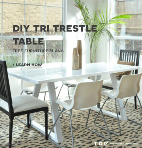 free diy furniture plans how to build a tri trestle table the design confidential
