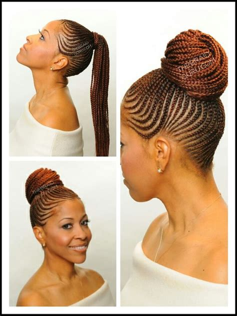 black woman twist hair styles up in pony tails cornrow ponytail ethnic hair pinterest cornrow