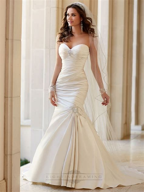 sizzling ruched wedding gowns collection designers