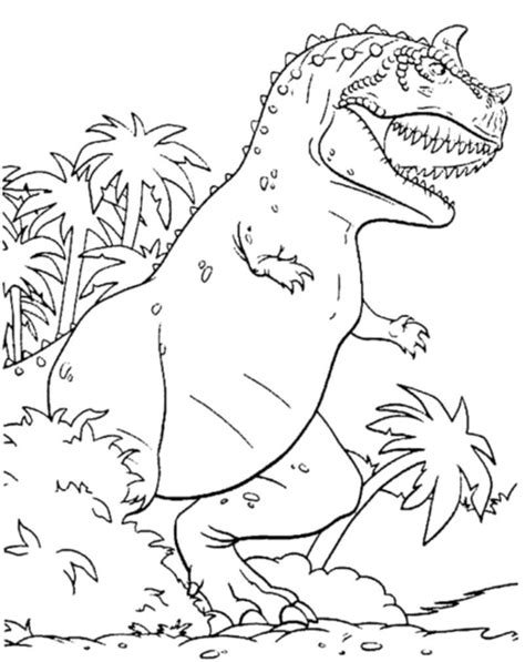 T Rex Coloring Page Jurassic World Printable Kids Scary Dinosaur Coloring Pages