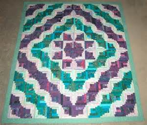 madan s quilting teal and purple curved log cabin