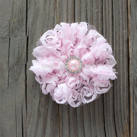diy 4 quot vintage lace flower frilly hair flowers headbands popular tulle flowers buy cheap tulle flowers lots from