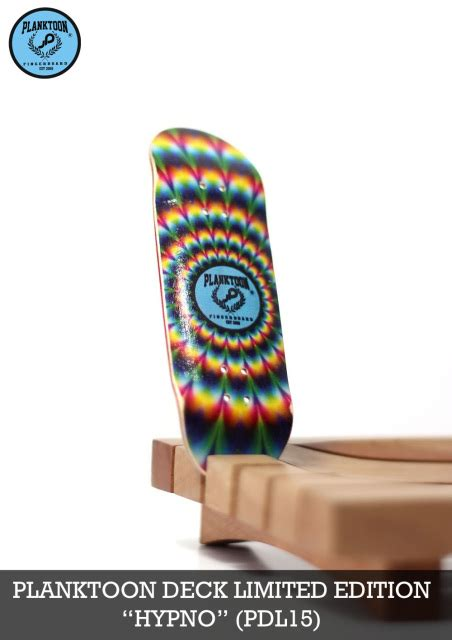 Planktoon Fingerboard Top Dual Set Deck Collection planktoon deck limited quot hypno quot pdl15