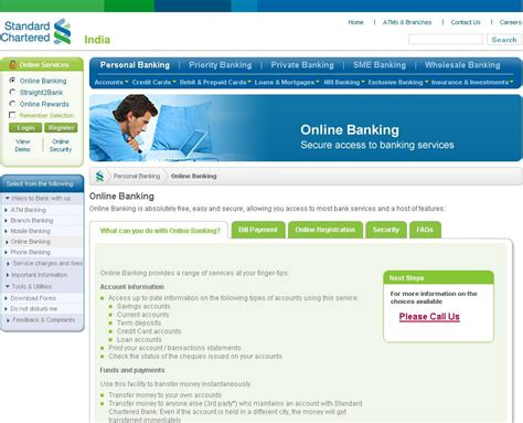 standard chartered bank india banking standard chartered banking user guide for india