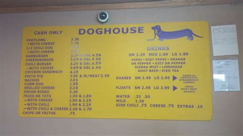 dog house albuquerque menu menu board yelp