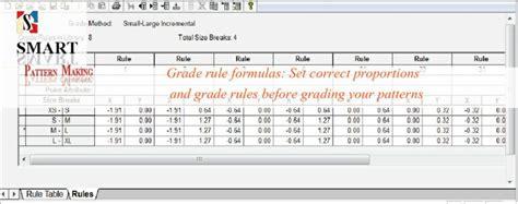 pattern grading companies grade rules grading formula creation smart pattern