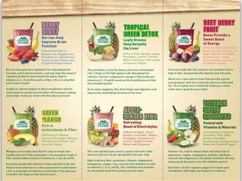 Mariano S Green Detox Smoothie Recipe by Mariano S Smoothie Menu Gf Recipes