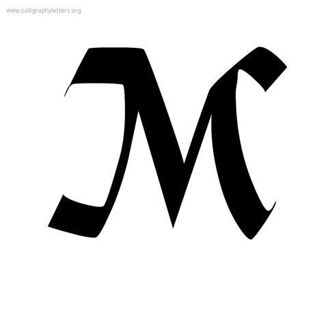 The Letter M In Calligraphy   www.imgkid.com   The Image