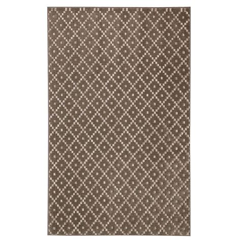 home depot mohawk area rugs mohawk home walnut taupe 8 ft x 10 ft area rug 000262 the home depot