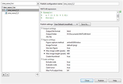 format excel matlab output preferences for publishing matlab simulink