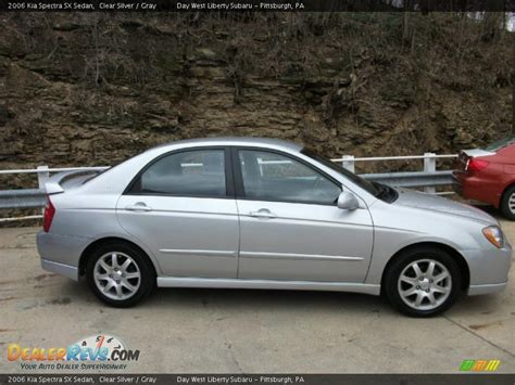 2006 Kia Spectra Sx 2006 Kia Spectra Sx Sedan Clear Silver Gray Photo 5