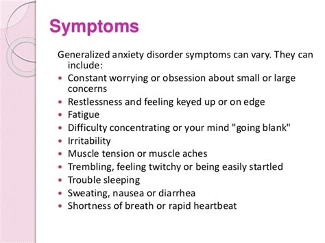stress symptoms anxiety disorders