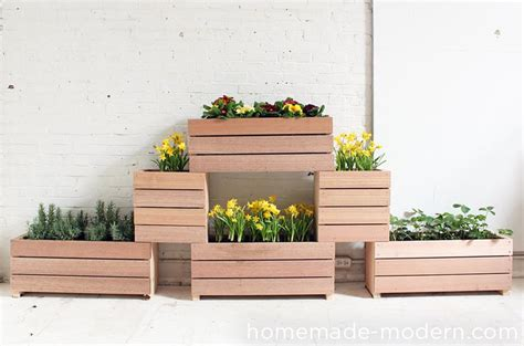 homemade planters homemade modern ep60 stackable planters