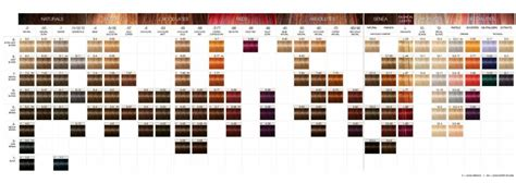 schwarzkopf color hair color chart schwarzkopf hair color chart hairstyles ideas