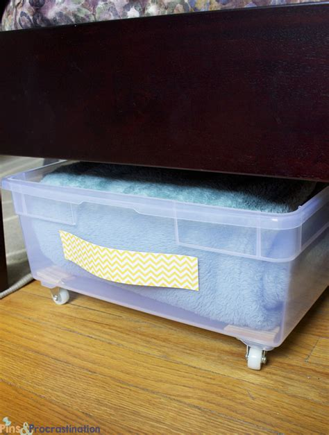 bed storage diy plastic underbed drawers pins and