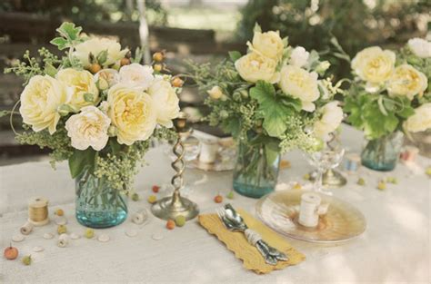 Rustic Vintage Wedding Ideas Green Wedding Shoes Vintage Table Centerpieces