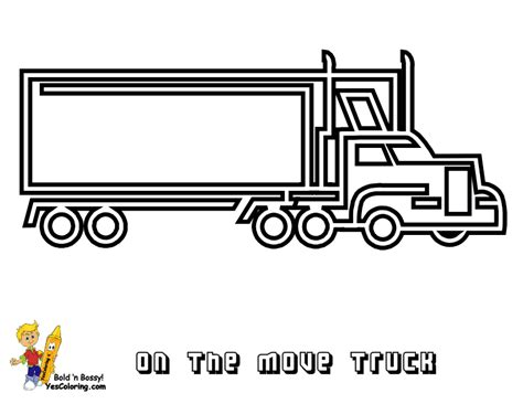 moving van coloring page stone cold coloring trucks trucks free 18 wheelers