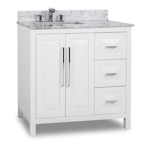Hardware For Bathroom Vanity Hardware Resources Shop Van104 36 T Vanity White Jeffrey Large Bathroom