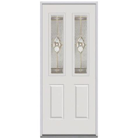 Decorative Replacement Glass For Front Door by Milliken Millwork 30 In X 80 In Master Nouveau