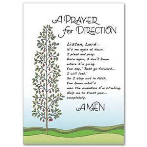 a prayer for direction praying for you card