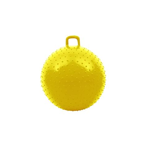 bouncy with handle 36 inch yellow knobby bouncy with handle for