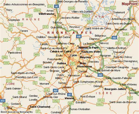 lyon on a map maps of lyon