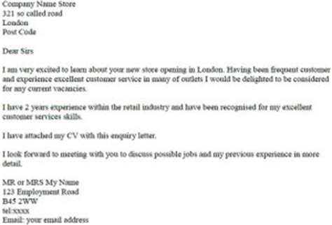 Work Experience Enquiry Letter Letter Of Inquiry Exle Learnist Org