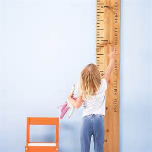 popular items wall decor height ruler personalised kids rule wooden ruler height chart by
