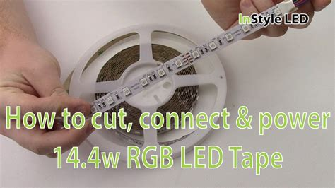 Led Strip Lights How To Cut Connect Power 14 4w Rgb How To Join Led Lights
