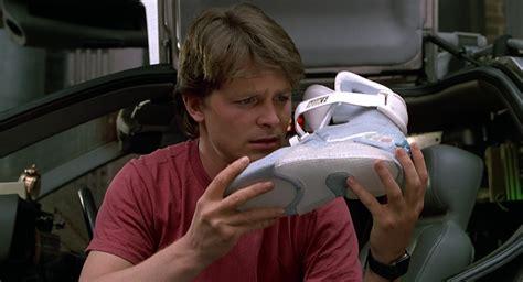 michael j fox marty mcfly nike mag self lacing sneakers worn by michael j fox