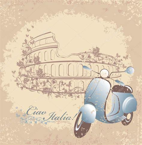 imagenes vintage italia carte postale r 233 tro voyage en italie scooter vintage sur