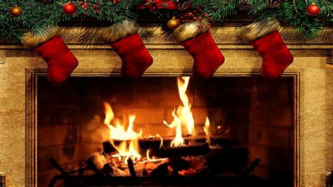 christmas fireplace wallpaper  images