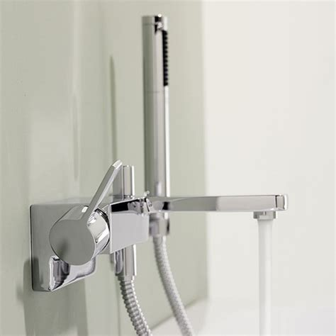 bathroom wall mixer dornbracht lulu wall mounted single lever bath mixer with
