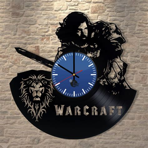 Handmade Clock - warcraft handmade vinyl record wall clock vinyl clocks