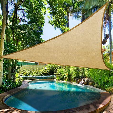 Sun Canopy For Garden 16 5 Triangle Sun Shade Sail Yard Canopy Patio Garden Uv
