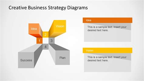 business strategy presentation template creative business strategy diagram for powerpoint slidemodel